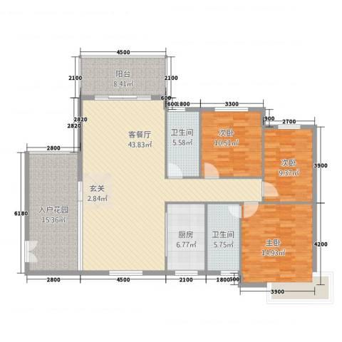 第一城3室1厅2卫1厨3223138.00㎡户型图