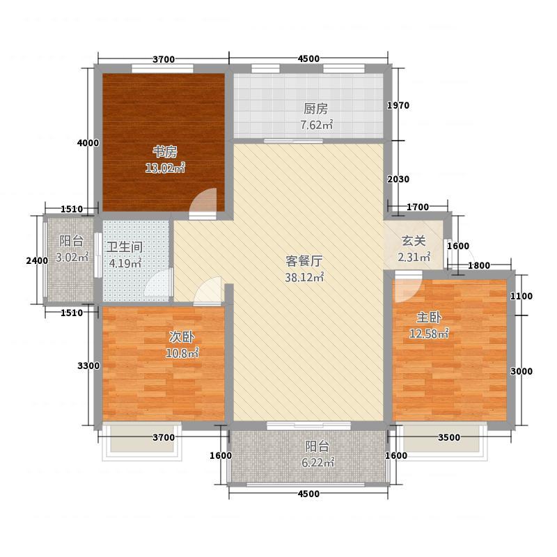 华东蓝海石油生活区125.00㎡A户型3室2厅1卫
