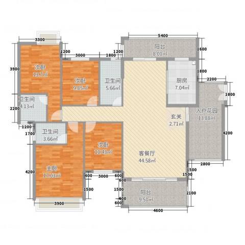 第一城4室1厅3卫1厨4234174.00㎡户型图
