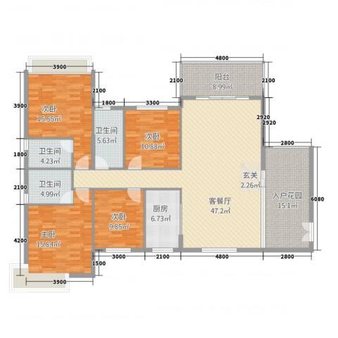 第一城4室1厅3卫1厨4234167.00㎡户型图