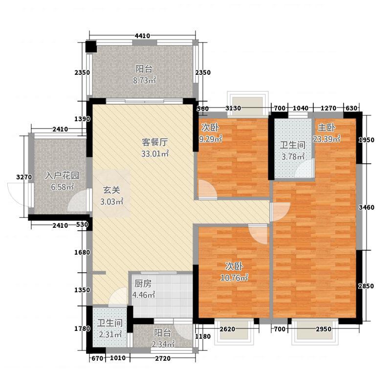 云峰诗意146.00㎡S78栋户型3室2厅2卫1厨