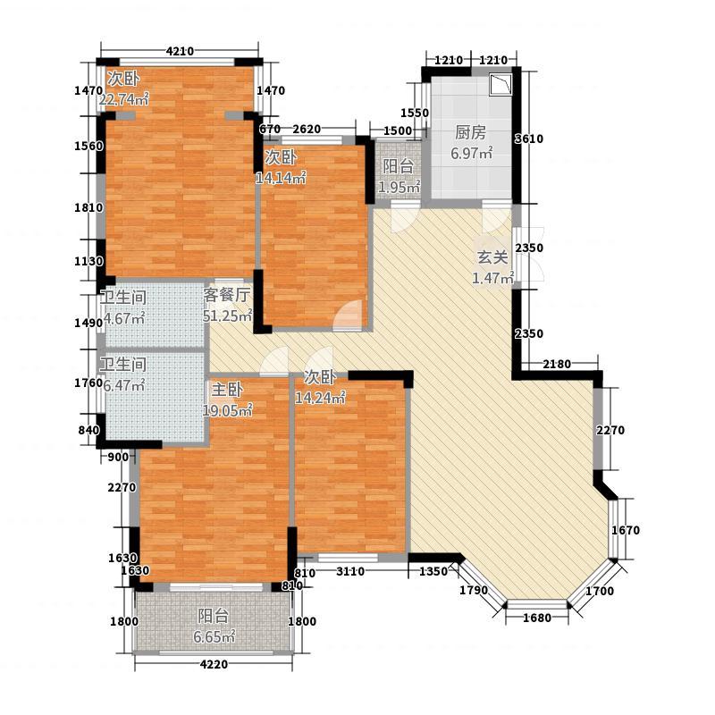 沁园春御院165.00㎡户型4室