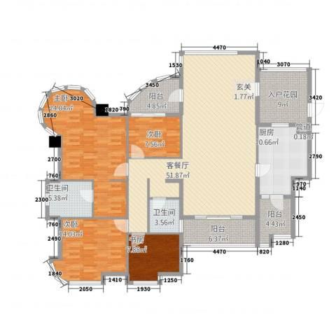 颐景园4室1厅2卫1厨210.00㎡户型图