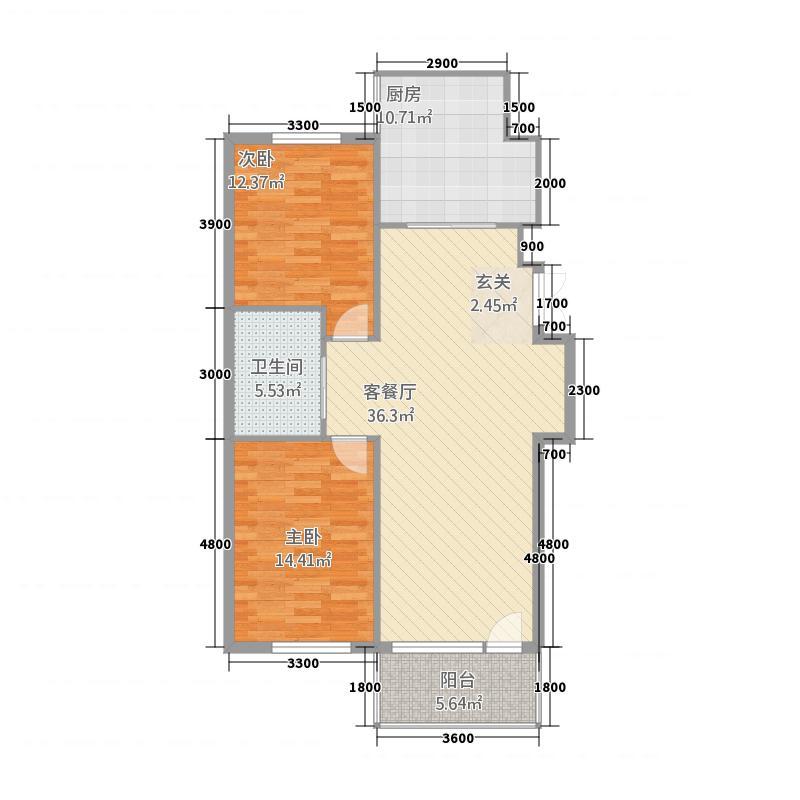 龙泽雅苑218.20㎡户型2室2厅1卫1厨