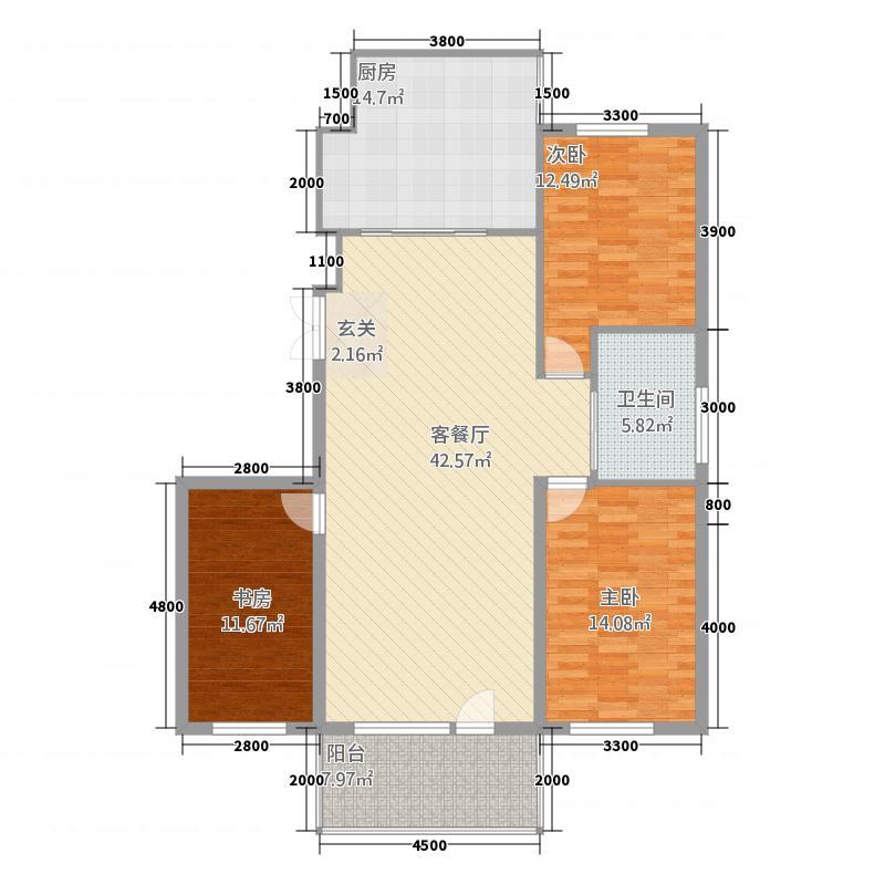 龙泽雅苑26.20㎡户型2室2厅1卫1厨
