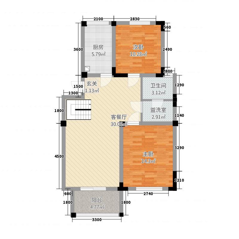 中原铁路局家属院64.00㎡户型2室