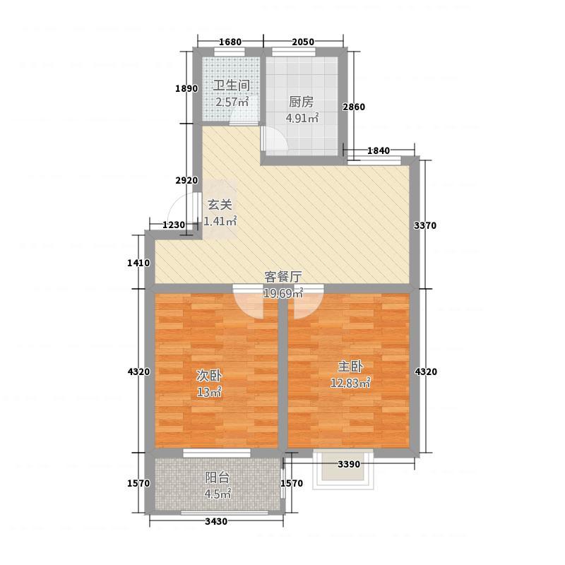 莲湖佳苑户型2室