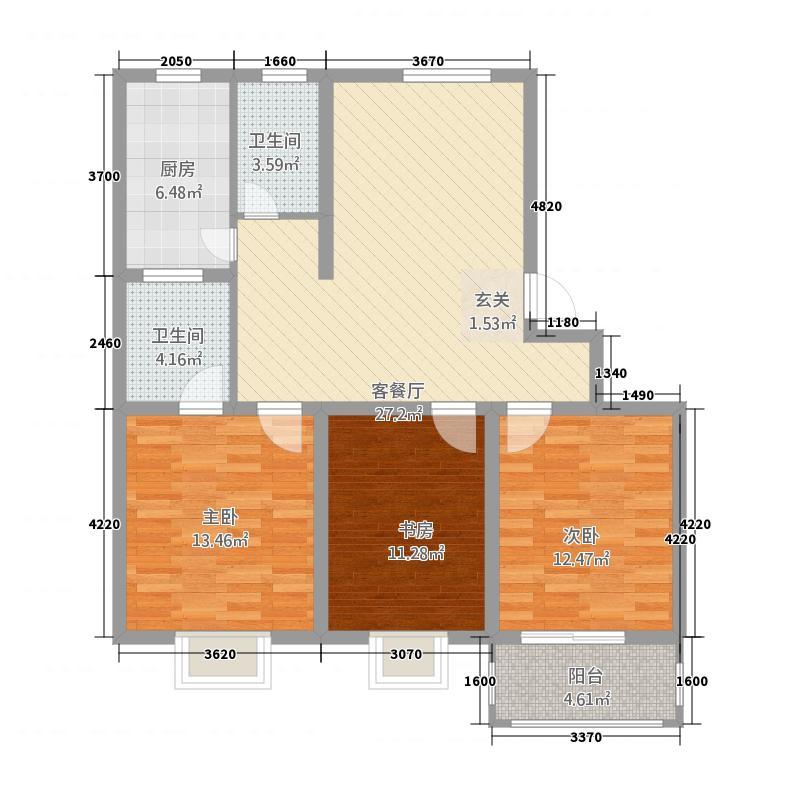 莲湖佳苑户型3室