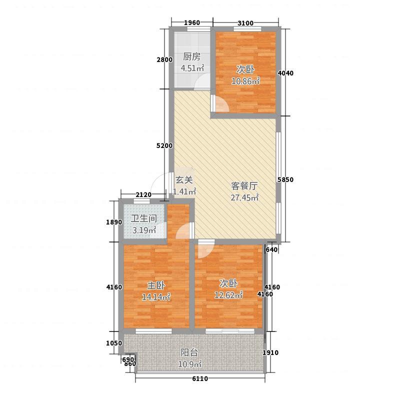 盛世豪庭119.00㎡盛世豪庭户型图C3室2厅1卫户型3室2厅1卫