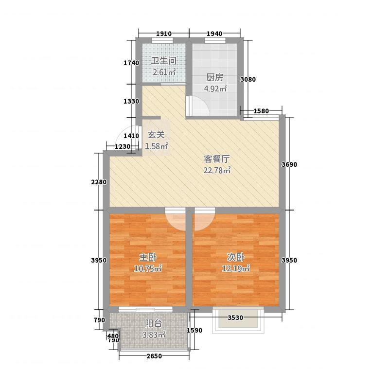 御景城81.81㎡御景城户型图A1户型2室2厅1卫1厨户型2室2厅1卫1厨