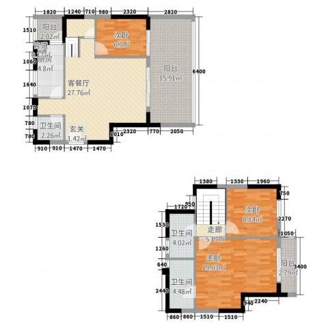 友山公馆3室1厅3卫1厨3113.00㎡户型图