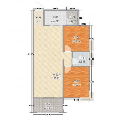 立�・领域2室1厅1卫1厨309.04㎡户型图