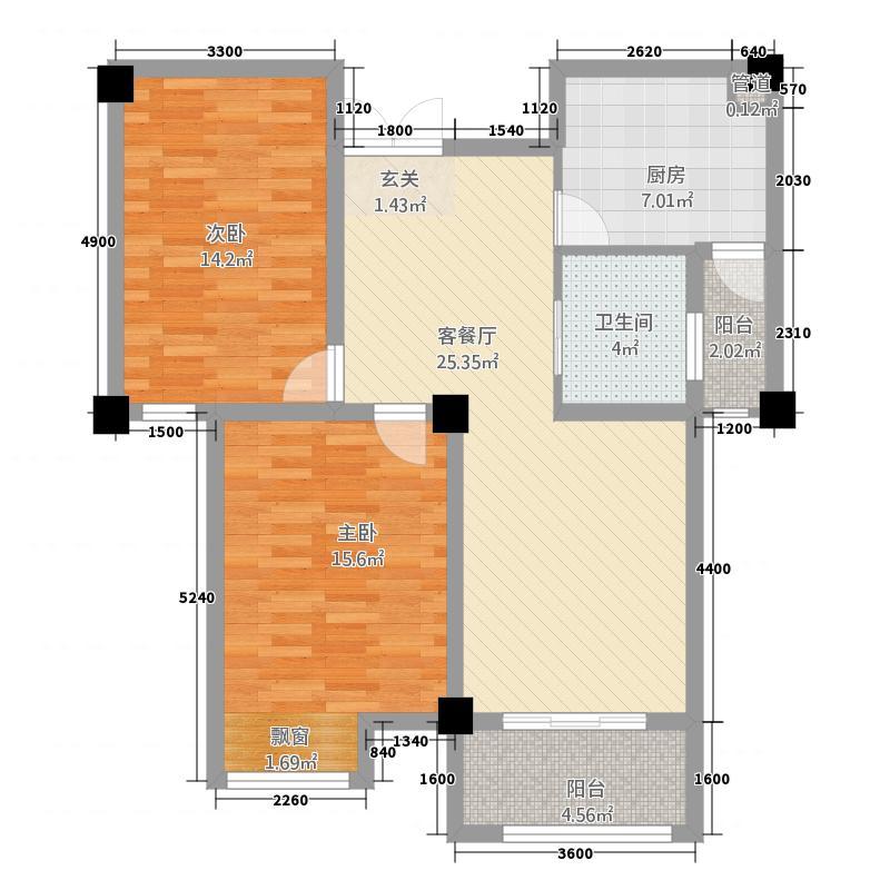 天润・红庭11户型3室2厅1卫