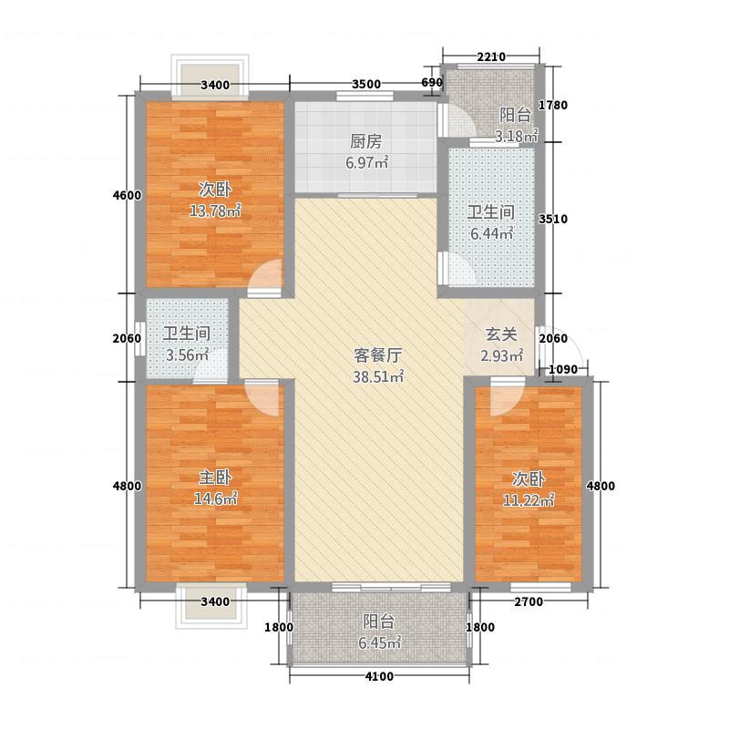 福鑫花园aerh_副本 3室2厅2卫1厨 129.84㎡