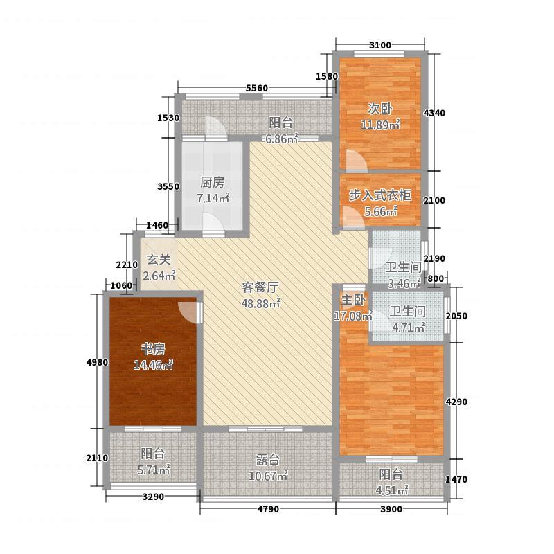 银基誉府15322148.00㎡户型3室2厅2卫1厨