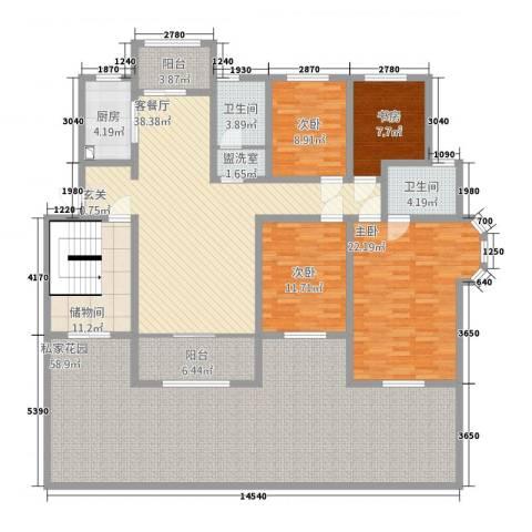 和源壹号公馆4室2厅2卫1厨183.43㎡户型图