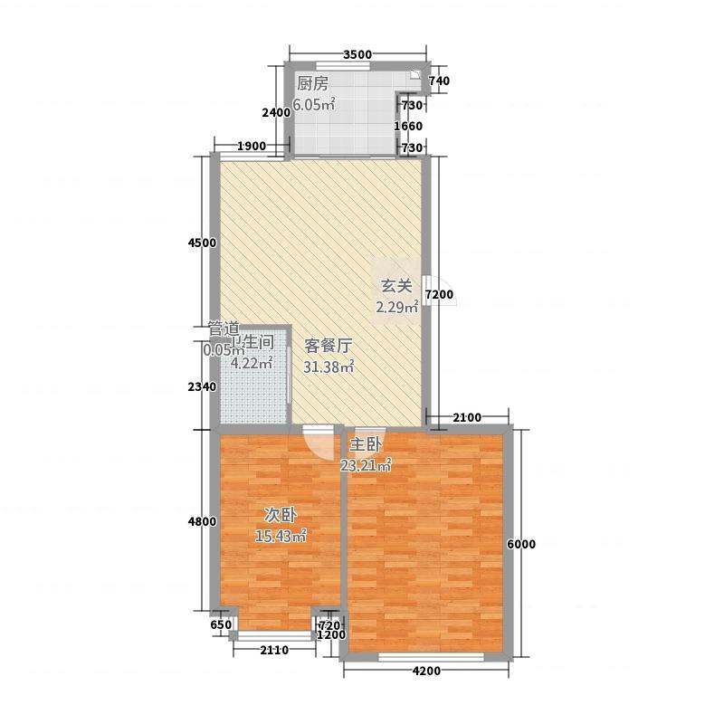 杰特・卧龙湾7.00㎡户型2室2厅1卫1厨