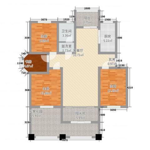 和源壹号公馆4室2厅1卫1厨105.81㎡户型图