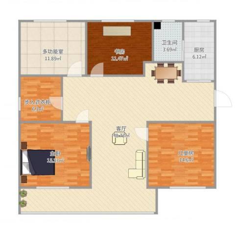 金樟花苑3室1厅1卫1厨126.34㎡户型图