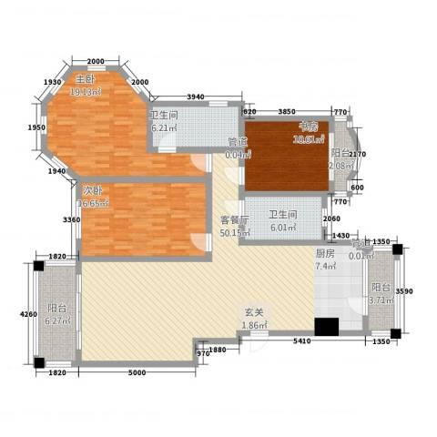 潜龙新村3室1厅2卫0厨174.00㎡户型图