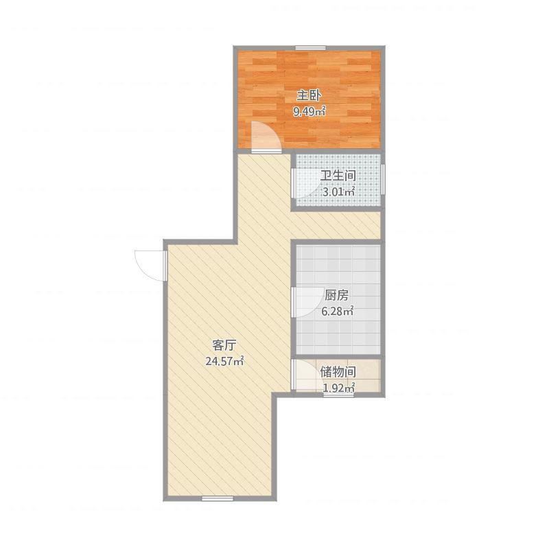谷丰家园2号楼7单元4号户型