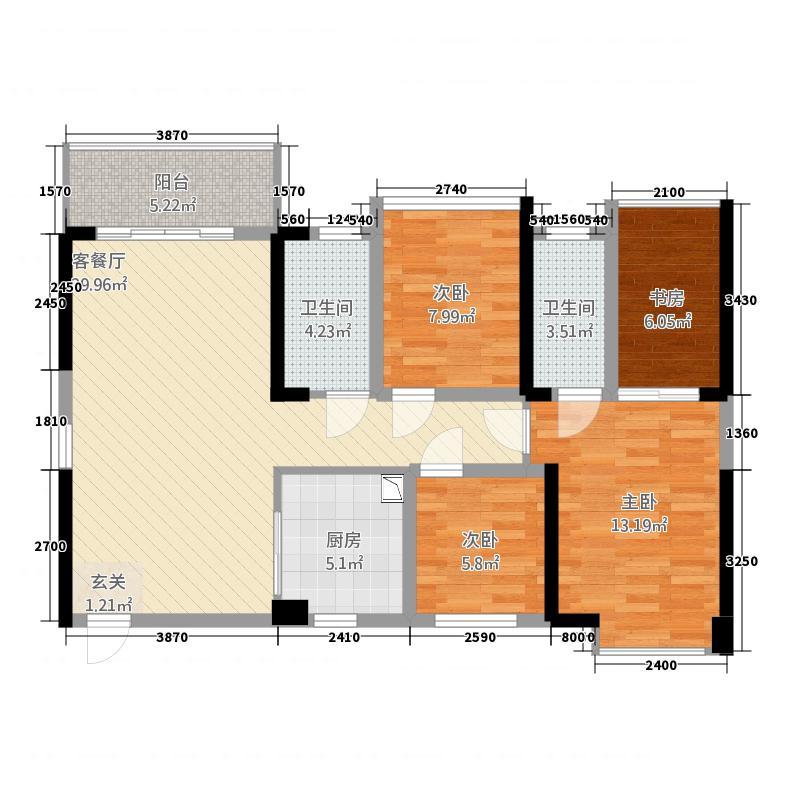 万丰新园143.00㎡户型3室