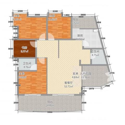 安江名园4室1厅2卫1厨176.80㎡户型图