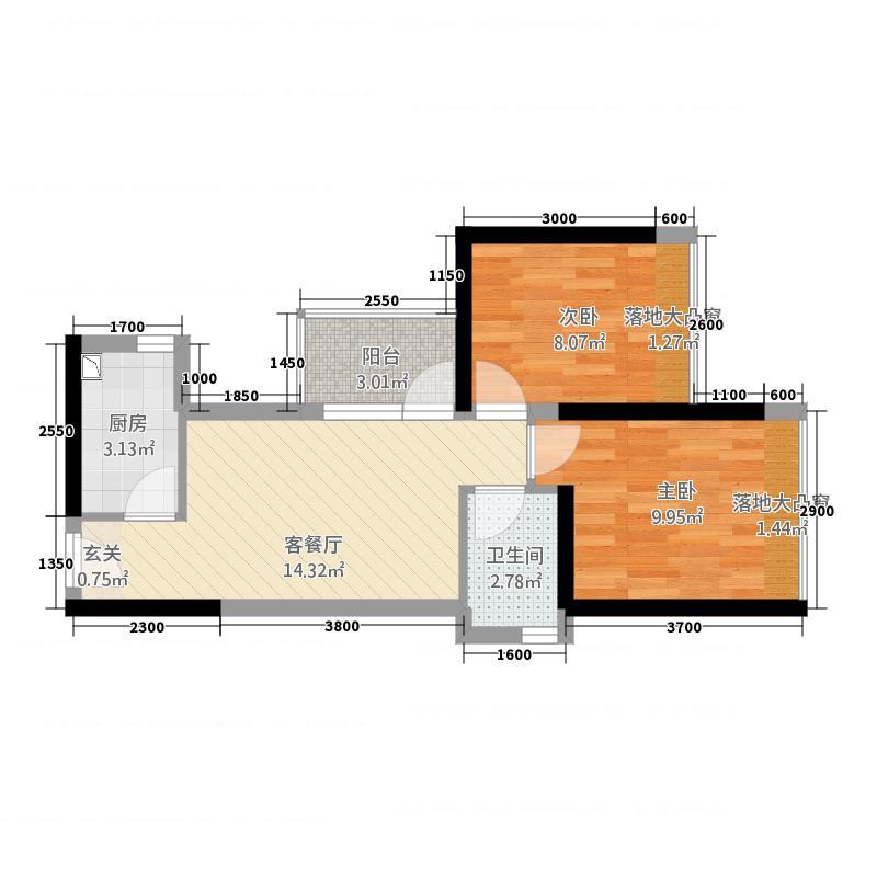 新天地名居户型2室