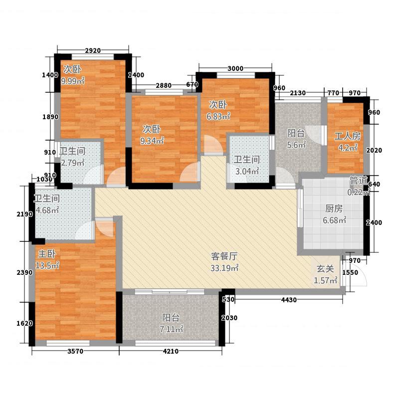 翠海花园154.00㎡户型5室