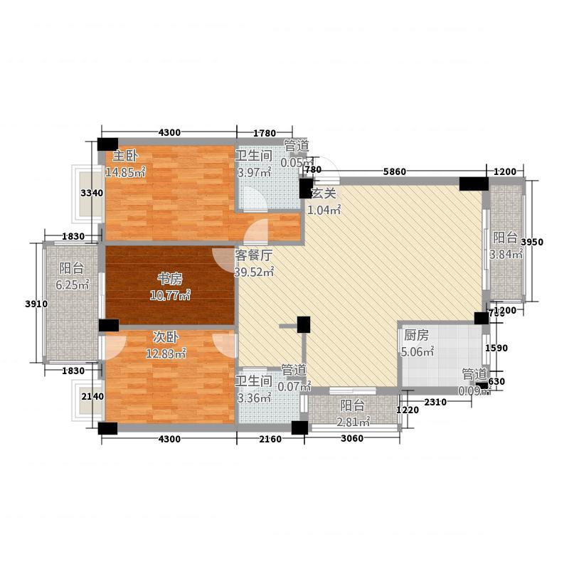 鼓楼庭院116.38㎡鼓楼庭院户型图26#楼02、03、04、05单元3室2厅户型3室2厅