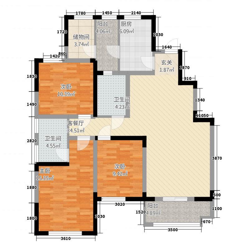 15号楼标准层I户型