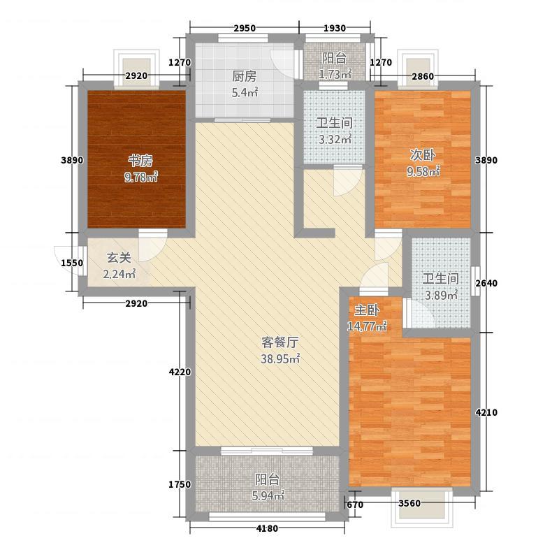 香水湾132135.20㎡C1户型3室2厅2卫1厨