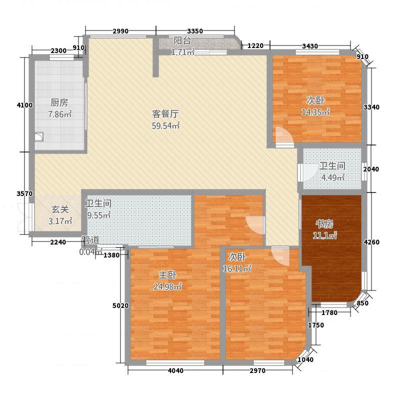 华府蓝海悦城户型3室2厅2卫1厨