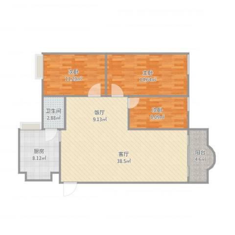 瀚高花园-12栋5033室1厅1卫1厨118.00㎡户型图