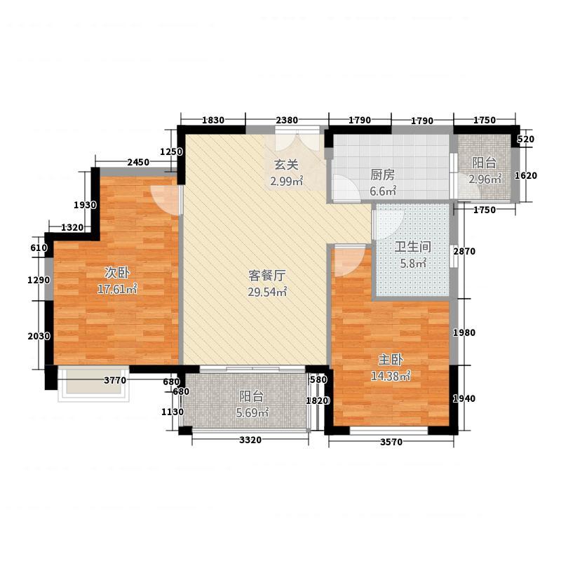 三室两厅一厨一卫118㎡户型