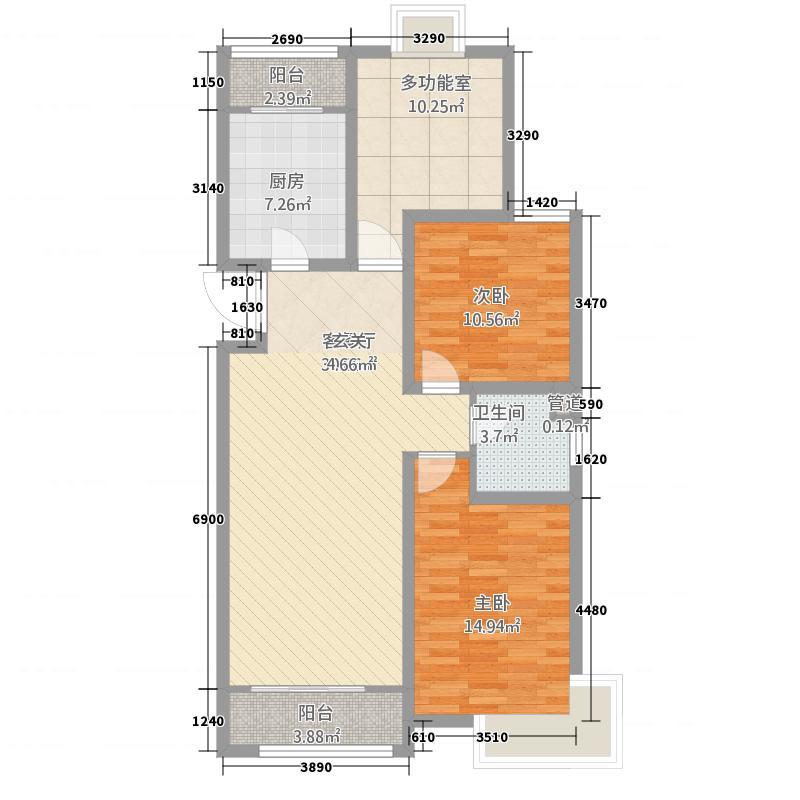 三室两厅一卫120㎡6—C户型