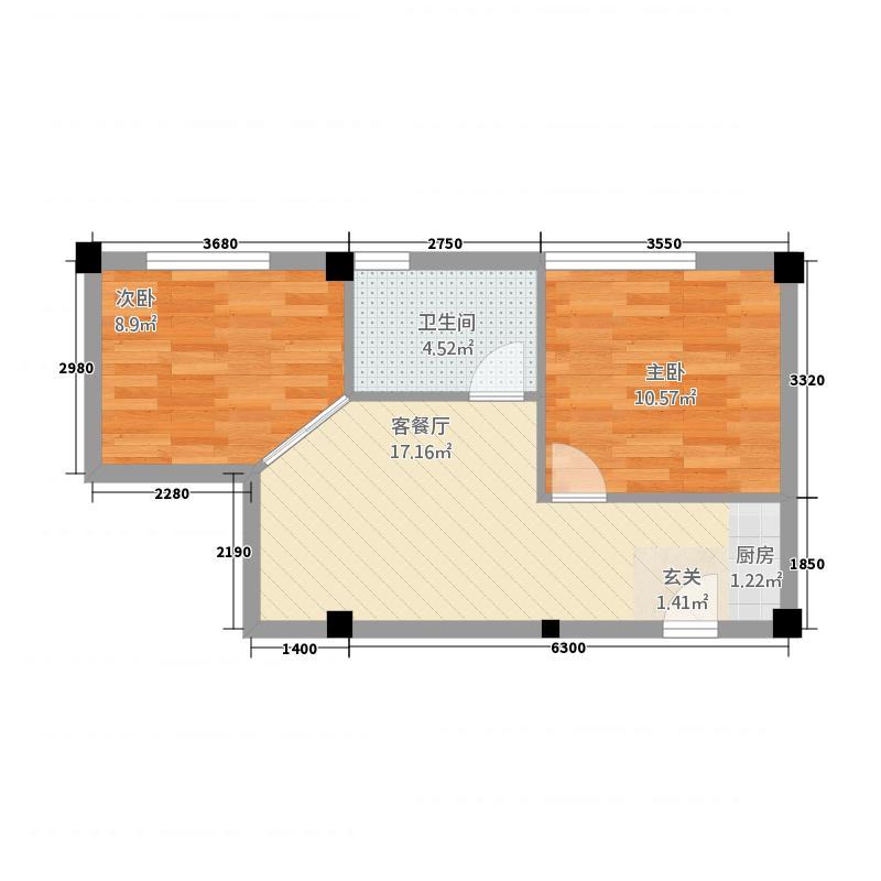 武夷山大国茶镇3户型2室1厅1卫