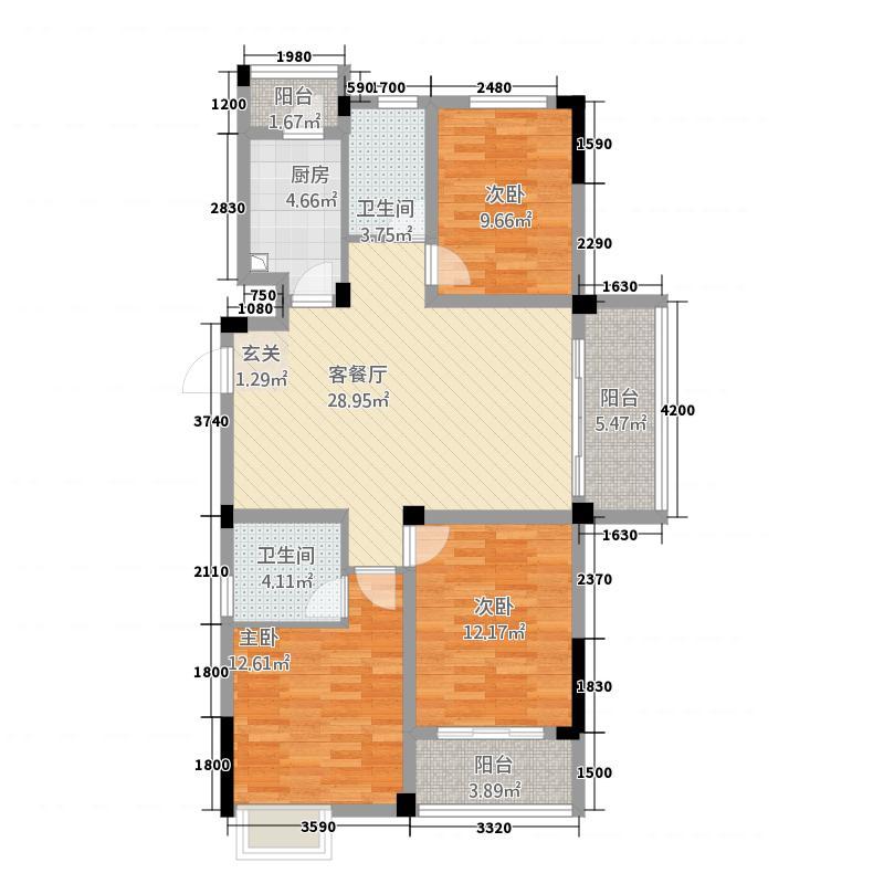 永佳福邸西苑114.00㎡C户型3室2厅2卫1厨