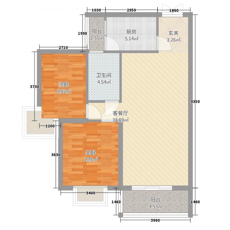 95㎡两室两厅一卫