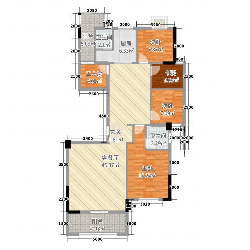 国际商品城三期尚东一品北区11栋02、03单元户型4室2厅2卫1厨
