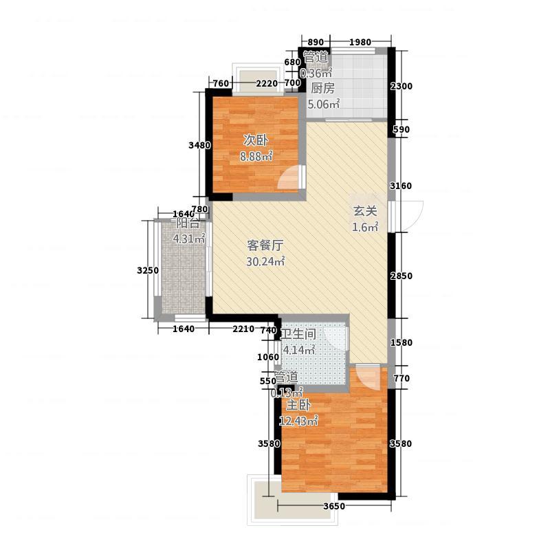两室两厅一卫94㎡户型