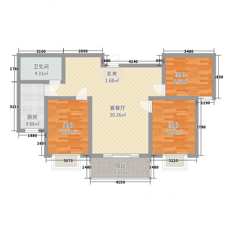 英尧・未来城216.82㎡C2户型3室2厅1卫1厨