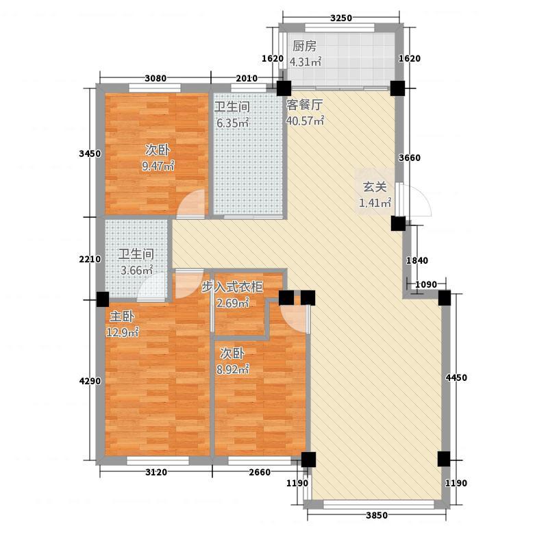 屹兴・香梅湾123.68㎡未标题-7户型3室2厅2卫1厨
