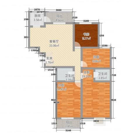 江南印象4室1厅2卫0厨84143.00㎡户型图