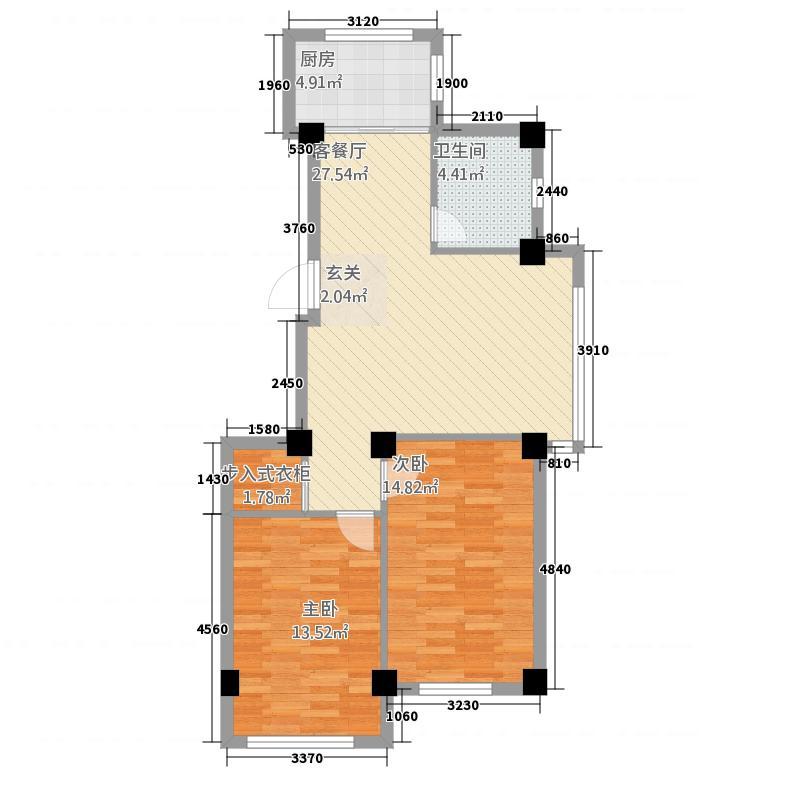 屹兴・香梅湾4.00㎡未标题-4户型2室2厅1卫1厨
