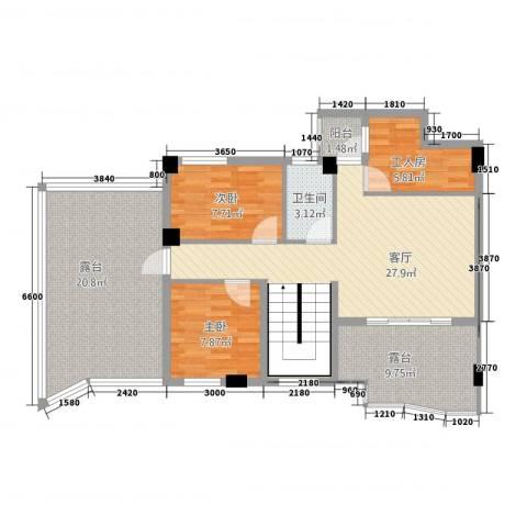 东堤湾2室1厅1卫0厨120.00㎡户型图