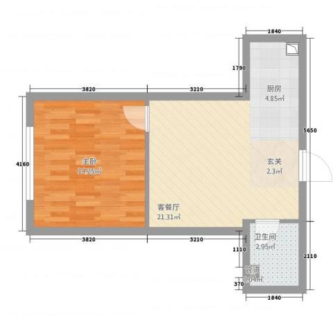 铂悦公寓1室1厅1卫0厨54.00㎡户型图