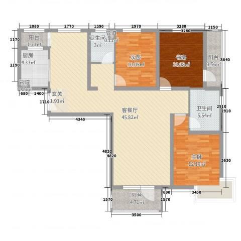 水云间3室1厅2卫1厨146.00㎡户型图