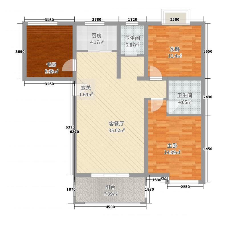 荣发新天地121.00㎡1户型3室2厅1卫1厨
