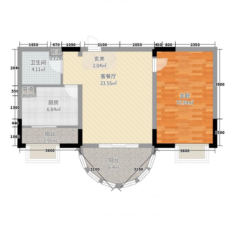 捷达园C座户型1室1厅1卫